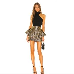 REVOLVE NBD Tommi Mini Skirt in Gold & Magenta XXS